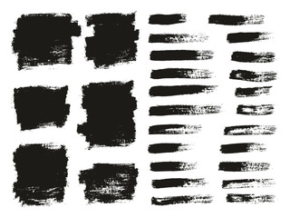 Paint Brush Thin Background & Lines High Detail Abstract Vector Background Mix Set 51