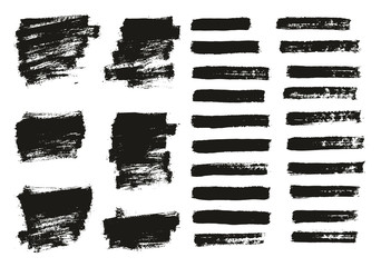 Paint Brush Thin Background & Lines High Detail Abstract Vector Background Mix Set 50