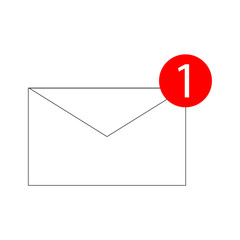 Mail icon vector isolated on white background. Trendy mail icon in flat style. Template for app, ui and logo. Icon mail for your web site. Modern mail icon,