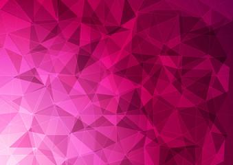 Obraz Banner with a polygonal pattern in pink. - fototapety do salonu