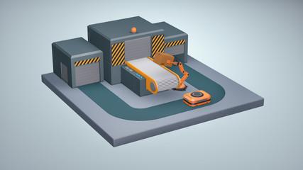 warehouse automation concept