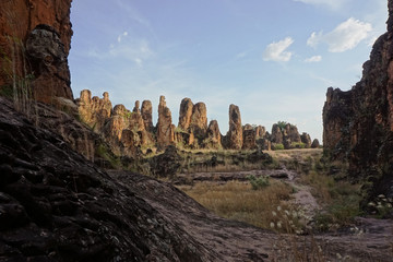 Landscape of sindou pics in burkina faso
