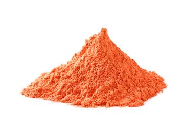 Holi powder isolated on white background