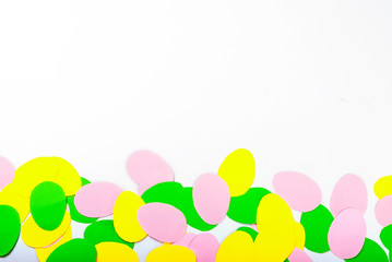 Many Easter paper eggs