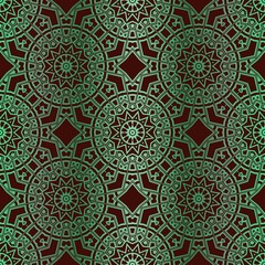 Traditional Ornamental Floral Pattern. For Design. Vector Illustration. Seamless. Gradient color