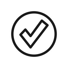 Simple Approve Related Vector Line Icon. Quality is confirmed sign web, mobile and infographics.