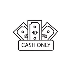 Simple line icon of cash