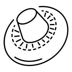 Champignon icon. Outline champignon vector icon for web design isolated on white background