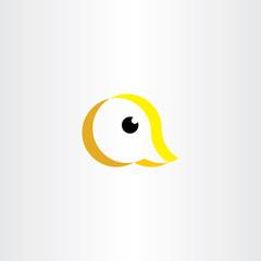 duck logo letter a icon symbol