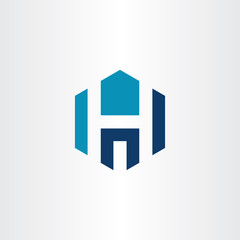 h letter building hospital icon logo vector