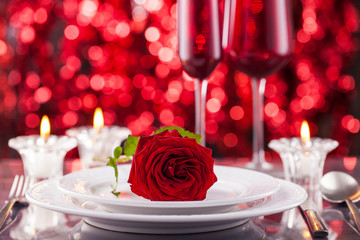 Valentines day place setting.