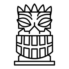 Exotic idol icon. Outline exotic idol vector icon for web design isolated on white background
