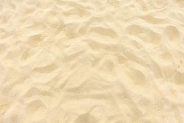 Fine beach sand in the summer sun