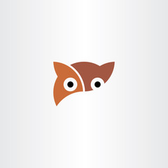 owl logo symbol element vector