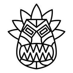 Folk idol icon. Outline folk idol vector icon for web design isolated on white background