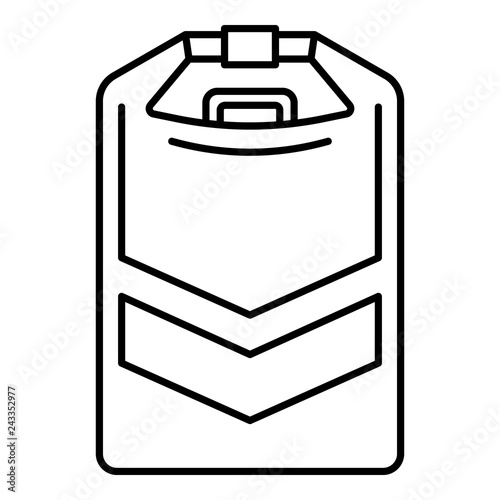 Rafting Tool Box Icon Outline Rafting Tool Box Vector Icon For Web