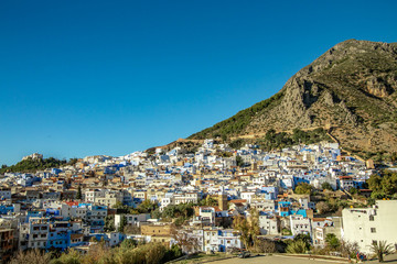 Panoramic view in Chefchaouen, Marocco
