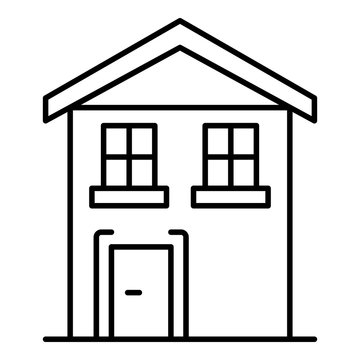 Pension house icon. Outline pension house vector icon for web design isolated on white background