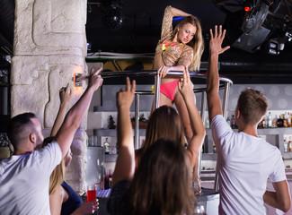 Gogo dancer woman dancing in the night club