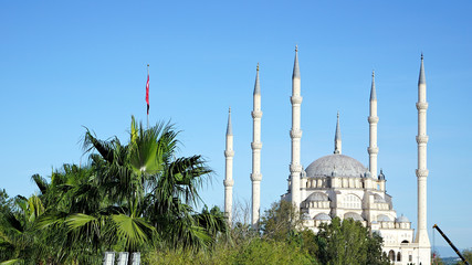 six minarets of mosque adana