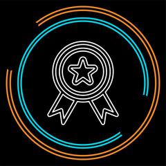 certification seal icon - vector award badge