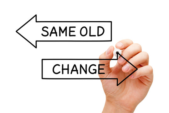 Same Old Or Change Arrows Concept