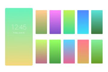 Soft color background design on screen. Gradient set for flyer, invitation, poster, banner or calendar