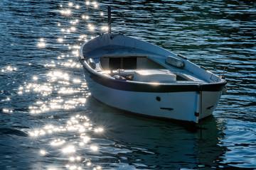 inverno nel riflesso barca