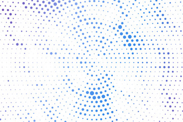 Light blue circles halftone style. Color geometric background. Vector illustration EPS 10.