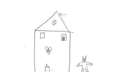 Zuhause des Osterhasen - Kinderzeichnung