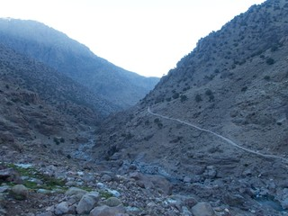 Jebel Toubkal winter ascent in high atlas mountains in morocco