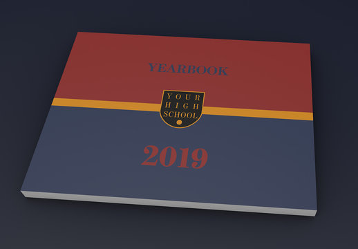 Red, Gold, and Blue Yearbook Layout