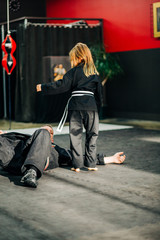 Little Girl in Martial Arts Uniform