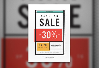 Offset Fashion Sale Flyer Layout