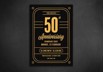 Vintage Anniversary Celebration Layout