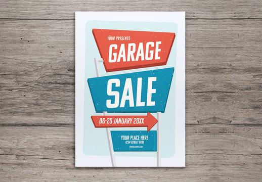 Street Sign Garage Sale Flyer Layout