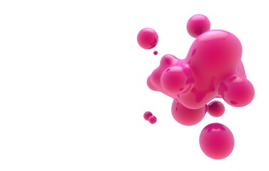 Abstract fluid blob compositions background. colorful liquid shape 3D Rendering.