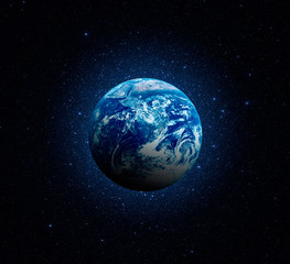 Planet Earth. Earth in the endless stellar space. Elements of this image furnished by NASA