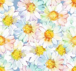 chamomile flower seamless pattern