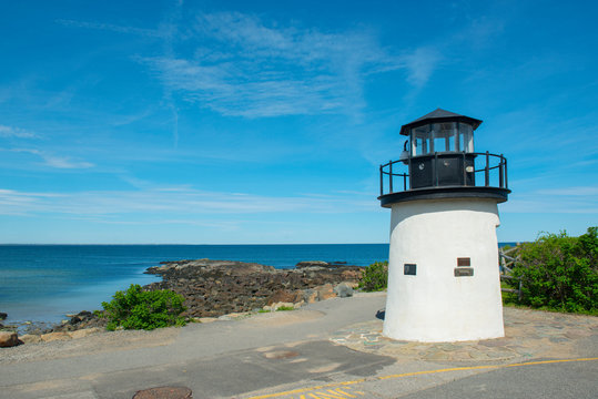 Lobster Point Lighthouse was built in 1948 on Marginal Way in Ogunquit, Maine, USA.
