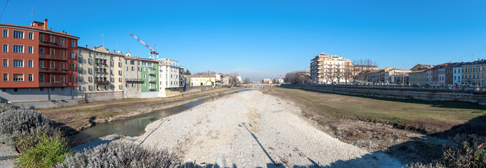 The Parma torrent - riverfront - Parma - Reggio Emilia - Italy