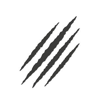 Monster tear claw scratch mark. Vector illustration.