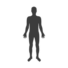 Vector silhouettes of man