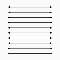 Classic Dividers set, simple graphic design, vector illustration