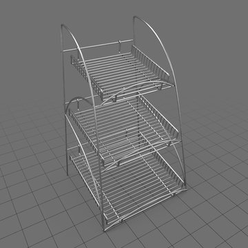 Three tier store display rack