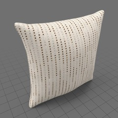 Square throw pillow with pattern