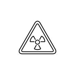 nuclear, signal, sign icon. Element of earth pollution icon for mobile concept and web apps. Detailed nuclear, signal, sign icon can be used for web and mobile