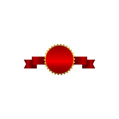 ribbons, medal, red, sash, circle illustration. Element of color bows and ribbons illustration for mobile concept and web apps. Detailed ribbons, medal, red, sash, circle