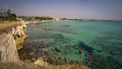 Wall Mural - Beautiful beach and transparent sea in Sicily, Italy.