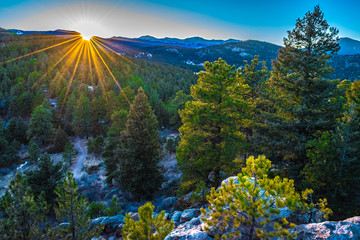 Beautiful Sunset Over Evergreen, Colorado
